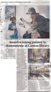 Canton Art Association Watercolor Demo